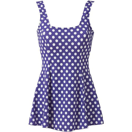 Beachcomber Skirted Dotty Swimsuit - Lilac